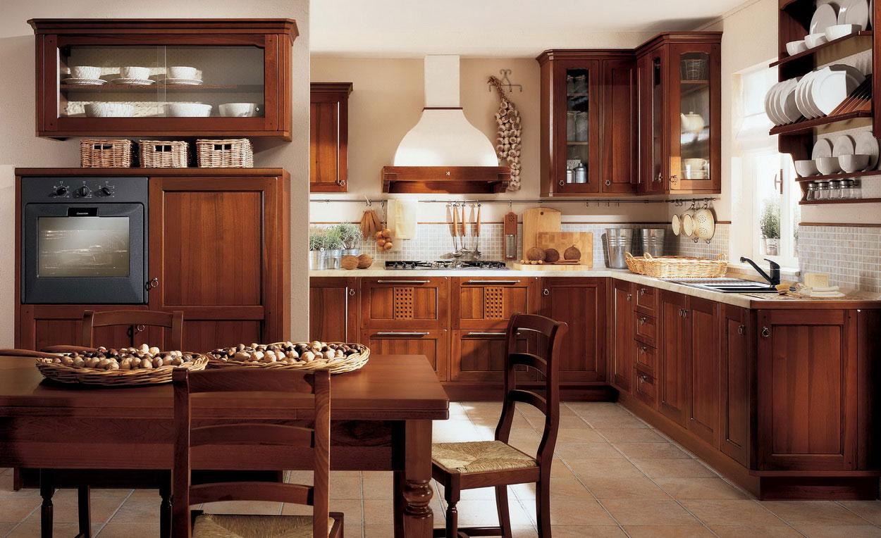 awesome-building-traditional-kitchen-cabinets_brown-varnished-wood-kitchen-cabinet_brown-wood-plate-rack_beige-tile-ceramic-flooring_white-metal-wall-range-hood.jpg